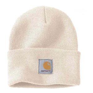 Carhartt Knit Cuffed Beanie+Winter White
